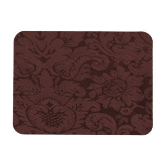 Red Wine Damask Weave Look Magnet