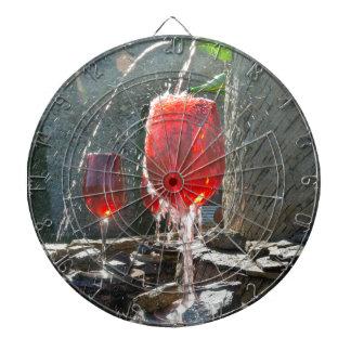 Red Wine Dartboard With Darts