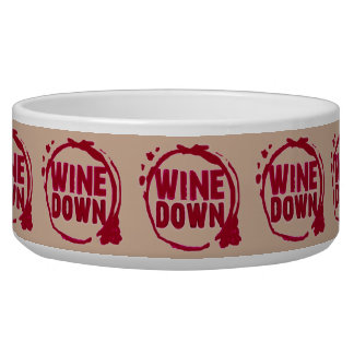 Red Wine Down print Bowl