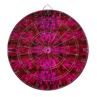 Red Wine Futurism Modern Textured Pattern Design Dart Boards