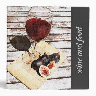 Red wine glass and figs - wine and food binder