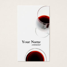 Red Wine Glass Business Card - Sommelier at Zazzle