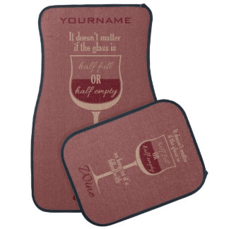 Red Wine Glass custom car floor mats