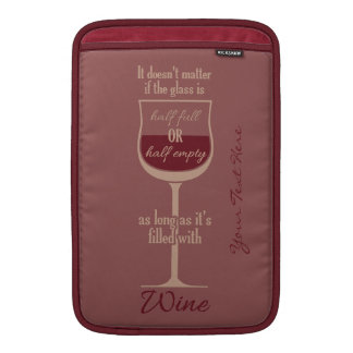 Red Wine Glass custom device sleeves Sleeve For MacBook Air