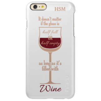 Red Wine Glass custom monogram cases