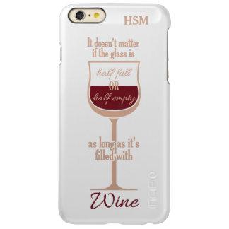 Red Wine Glass custom monogram cases Incipio Feather® Shine iPhone 6 Plus Case