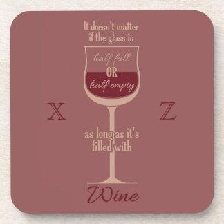 Red Wine Glass custom monogram coasters