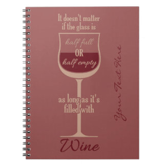 Red Wine Glass custom notebook