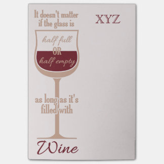 Red Wine Glass custom Post-It notes