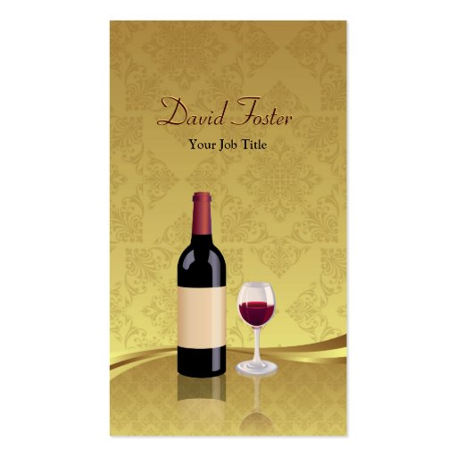 Red Wine Glass Dealer Retailer Agency Agent Business Card Templates