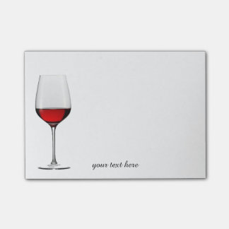 Red Wine Glass Post-It Notes