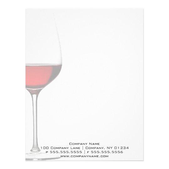 Red Wine Glass Professional Letterhead