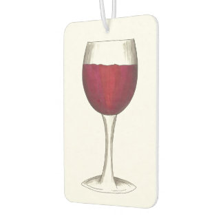 Red Wine Glass Wine Lover Winery Air Freshener