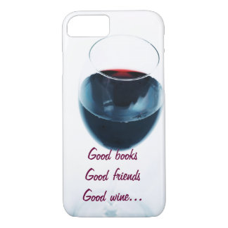 Red wine glass with quote iPhone 7 case