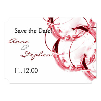 Red wine glasses card