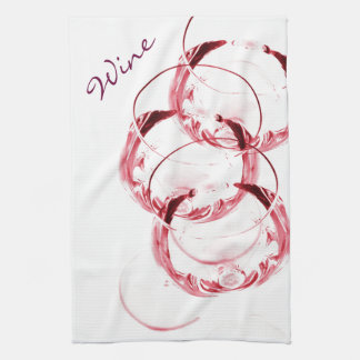 Red wine glasses hand towels