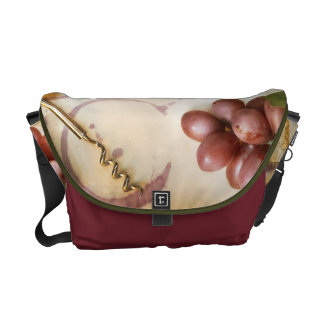 Red Wine Grapes Cork Screw Bottle Bag Tote Purse Messenger Bags