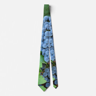 Red Wine Grapes Neck Tie
