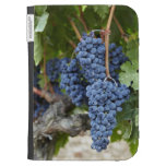 Red wine grapes on the vine cases for the kindle