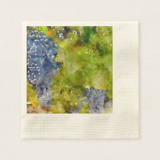 Red Wine Grapes on the Vine Paper Napkin