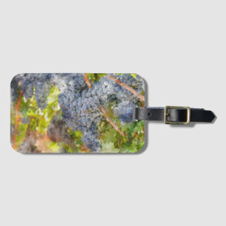 Red Wine Grapes on Vine Luggage Tag