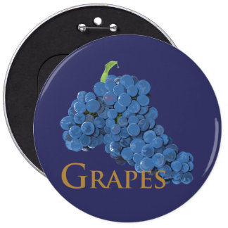 Red Wine Grapes Pinback Button