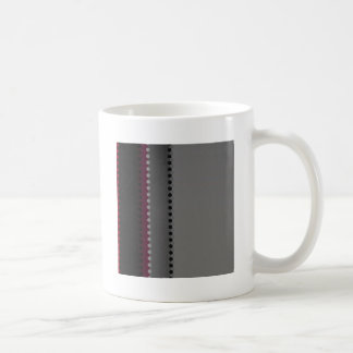 Red Wine Grey Black Stripe Dot Pattern Coffee Mug