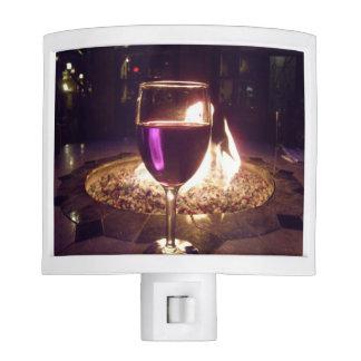 Red Wine in Glass Fireside Kitchen Night Light