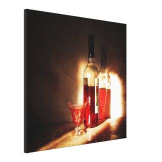 Red Wine in Morning Light Still Life Art Print Canvas Print