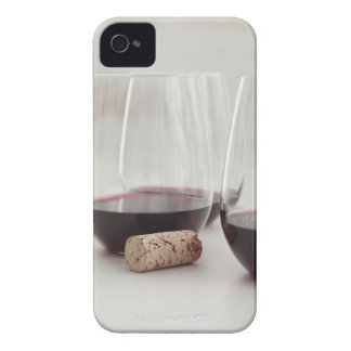 Red wine in stemless glasses iPhone 4 case