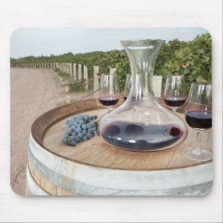 Red Wine In Vineyard Mouse Pad