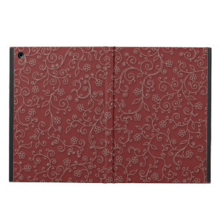 Red wine ivy iPad air cover