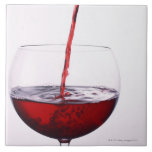 Red Wine Large Square Tile