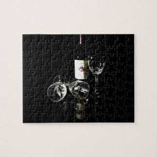 Red Wine Lover Bottle and Glasses Puzzles