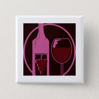 Red Wine Lover Pinback Button