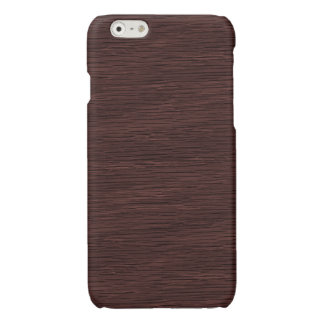 Red Wine Natural Oak Wood Grain Look Glossy iPhone 6 Case