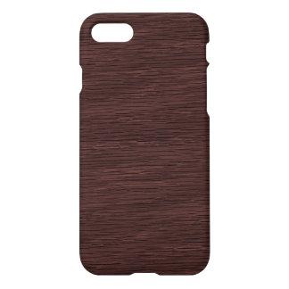 Red Wine Natural Oak Wood Grain Look iPhone 7 Case