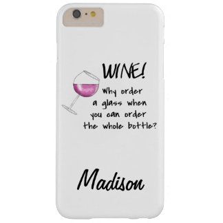 Red Wine Order Whole Bottle Art Name Personalized Barely There iPhone 6 Plus Case