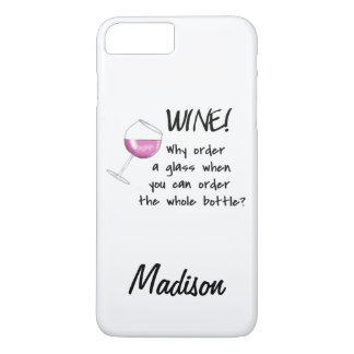 Red Wine Order Whole Bottle Art Name Personalized iPhone 8 Plus/7 Plus Case