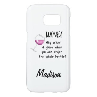 Red Wine Order Whole Bottle Name Word Art Samsung Galaxy S7 Case