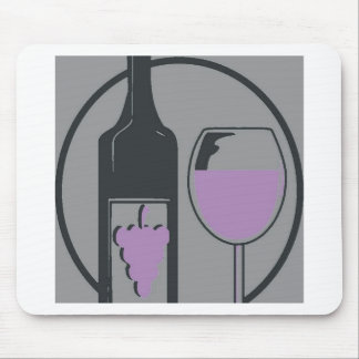 Red Wine Pop Art Mouse Pad