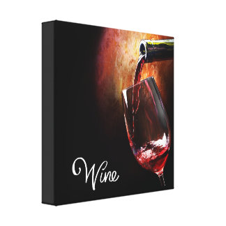 Red Wine Portrait on Stretched Canvas Canvas Print