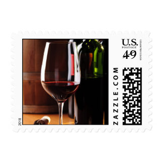 Red Wine Postage Stamp