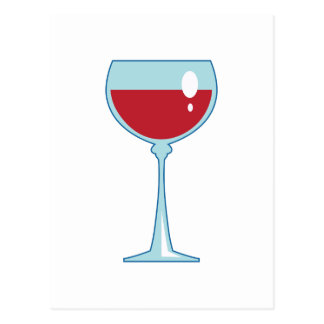 RED WINE POSTCARD