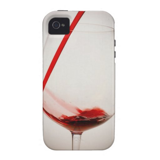 Red wine pouring into glass, close-up iPhone 4/4S cases