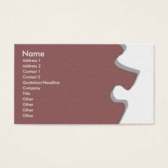 Red Wine Sandstone Puzzle Profile Card