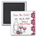 Red Wine Save the Date Magnet magnet