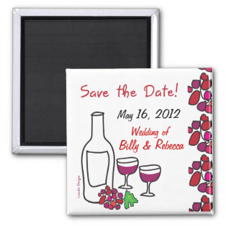 Red Wine Save the Date Magnet