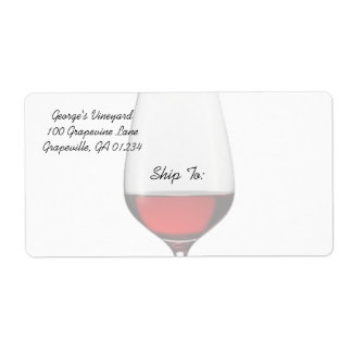 Red Wine Shipping/Address Labels