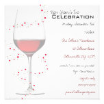 Red Wine & Sparkles New Year's Invitations